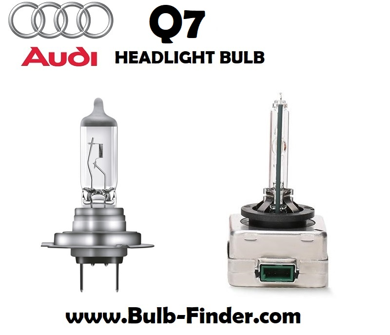 Audi Q7 headlight bulbs