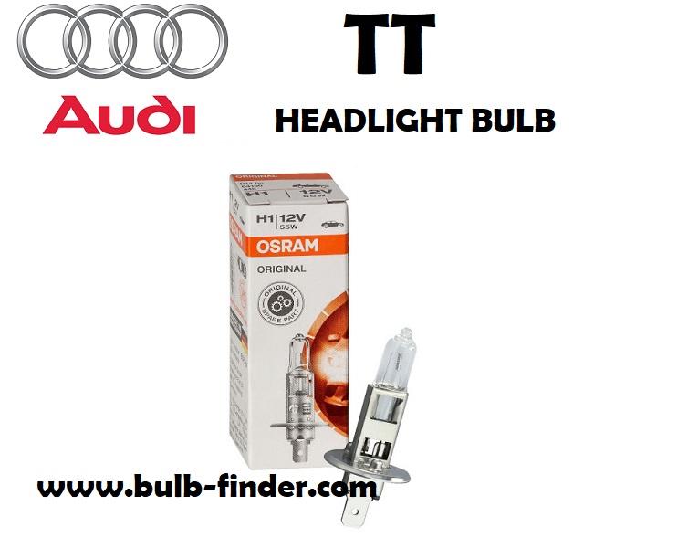Audi TT headlight lamp type