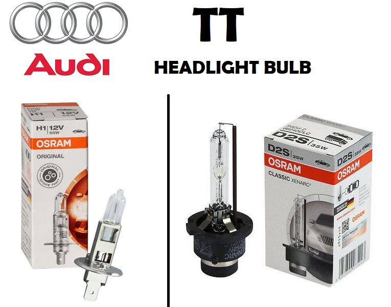 Audi TT headlights bulb type