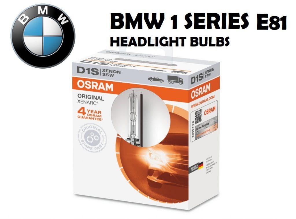 BMW 1 Series E81 bulbs type