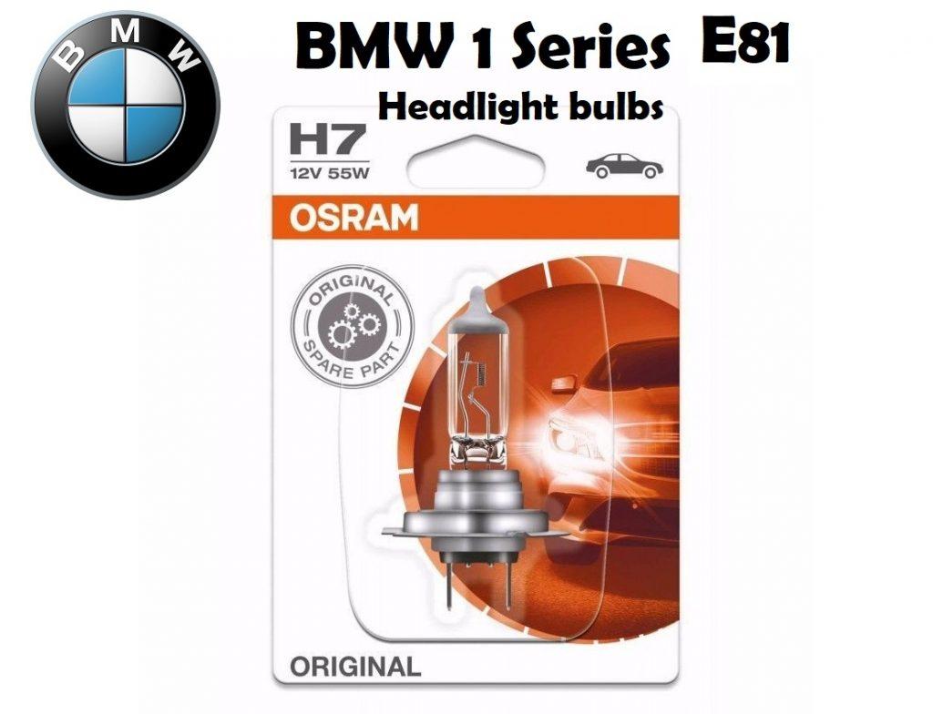 BMW 1 Series E81 headlights bulbs type