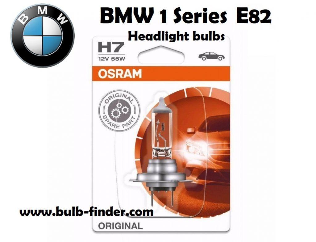 BMW 1 Series E82 headlights bulbs type