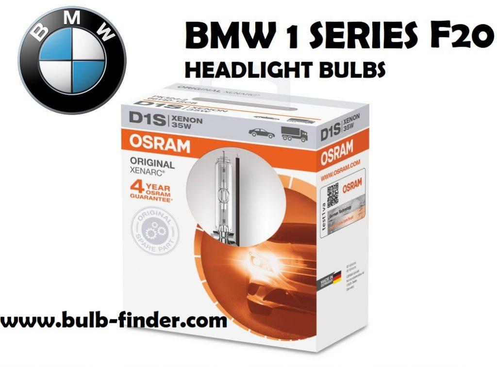 BMW 1 Series F20 headlights bulbs type