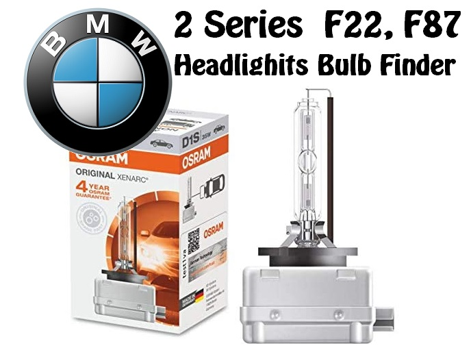 BMW 2 Series F22, F87 xenon bulb replacement