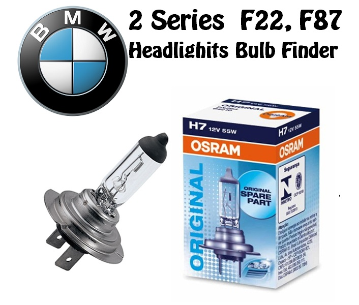 BMW 2 Series F22, F87 headlights bulbs model