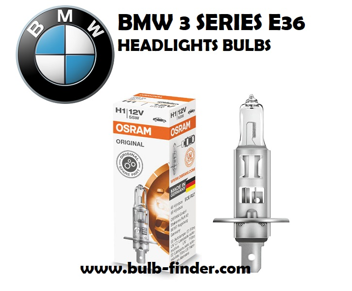 Headlight bulbs model BMW 3 Series E36