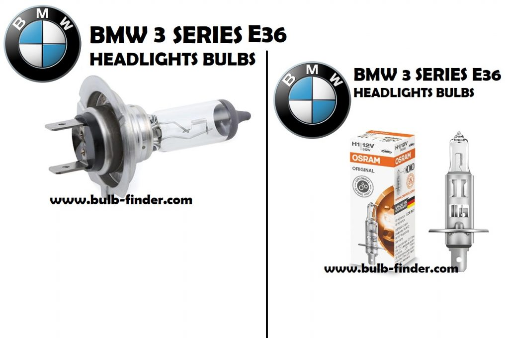 Headlight bulbs model BMW 3 Series E36