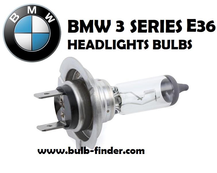 Geadlight bulbs model BMW 3 Series E36
