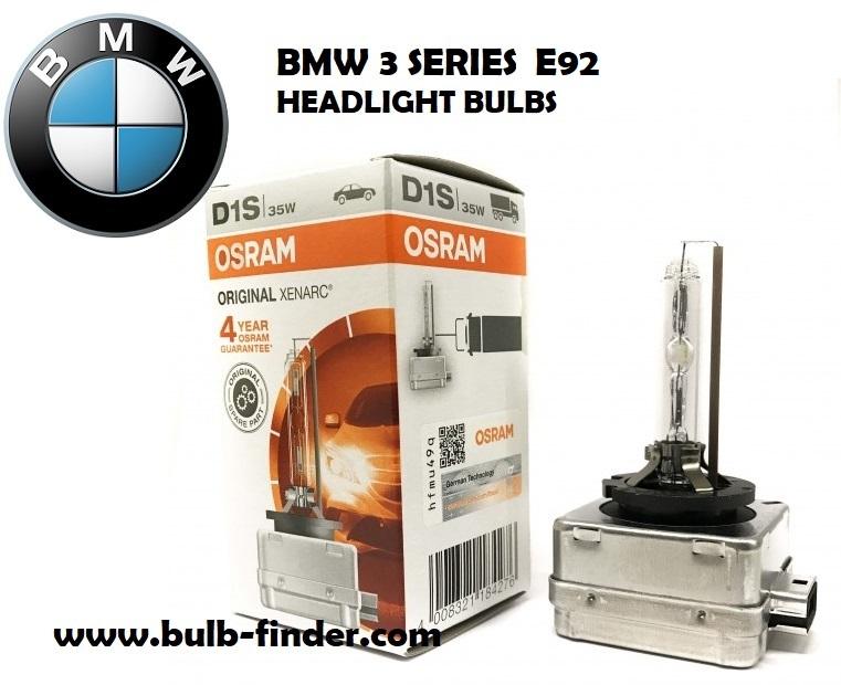 BMW 3 Series E92 bulbs headlight models