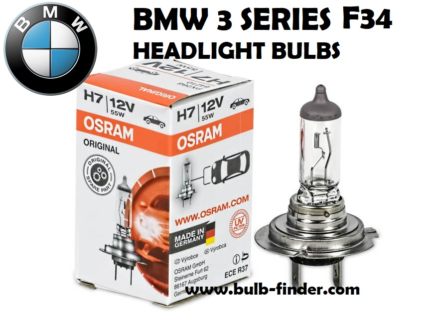 BMW 3 Series F34 headlight bulbs model