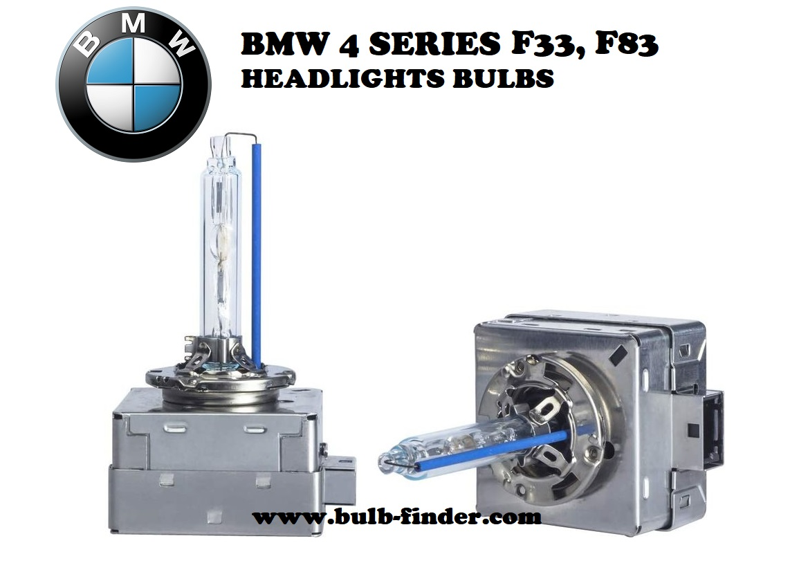 BMW 4 Series F33, F83 headlight bulbs model