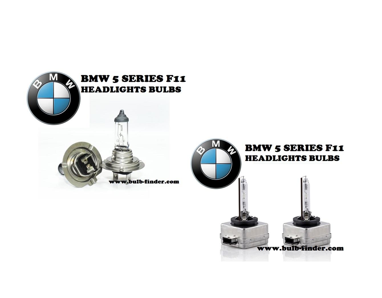BMW 5 Series F11 headlights bulbs model
