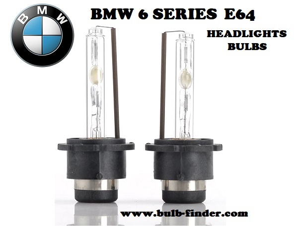 BMW 6 Series E64 headlights bulbs model
