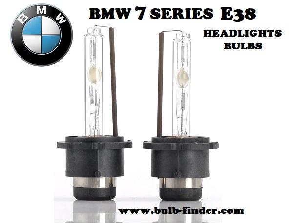 BMW 7 Series E38 headlights bulbs model