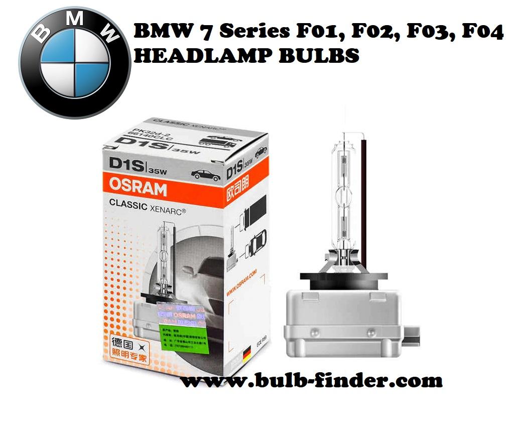 BMW 7 Series F01, F02, F03, F04 bulbs model