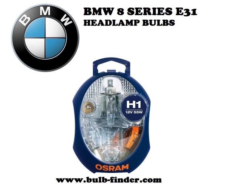 BMW 8 Series E31 headlights bulbs model