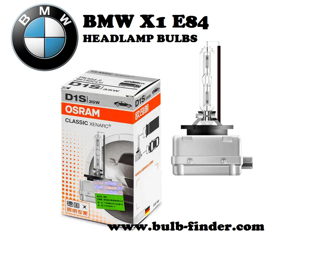 BMW X1 E84 front headlamps bulbs type