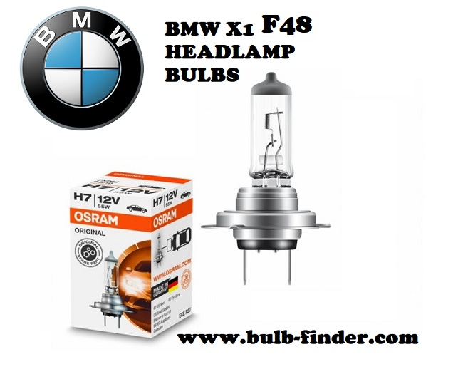 BMW X1 F48 front headlamps bulbs type