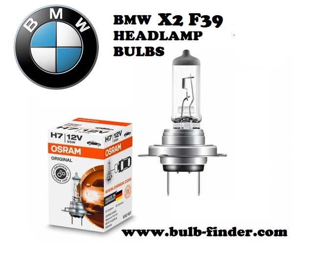 BMW X2 F39 front headlamps bulbs type
