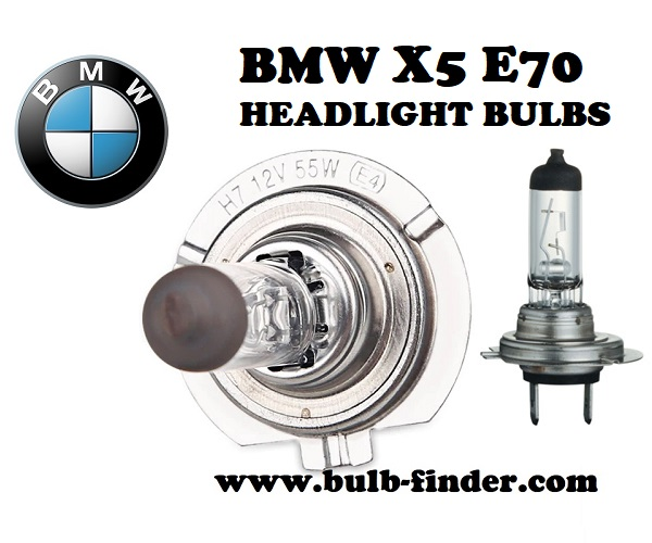 BMW X5 E70 front headlamps bulbs type