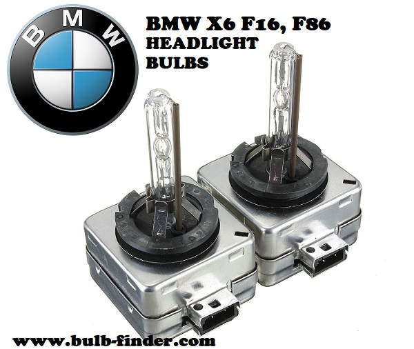 BMW X6 F16, F86 front headlamps bulbs type