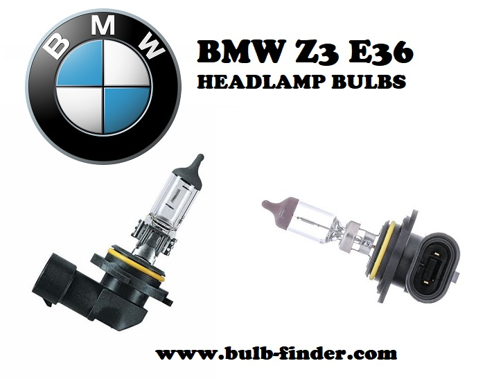 BMW Z3 E36 front headlamps bulbs type
