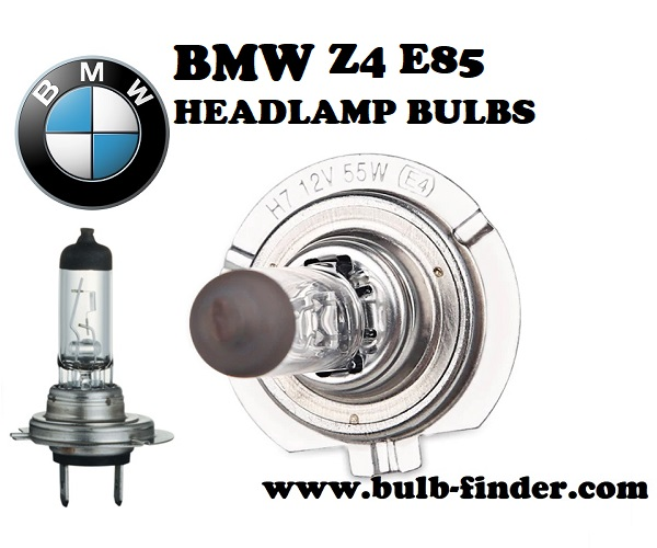 BMW Z4 E85 front headlamps bulbs type