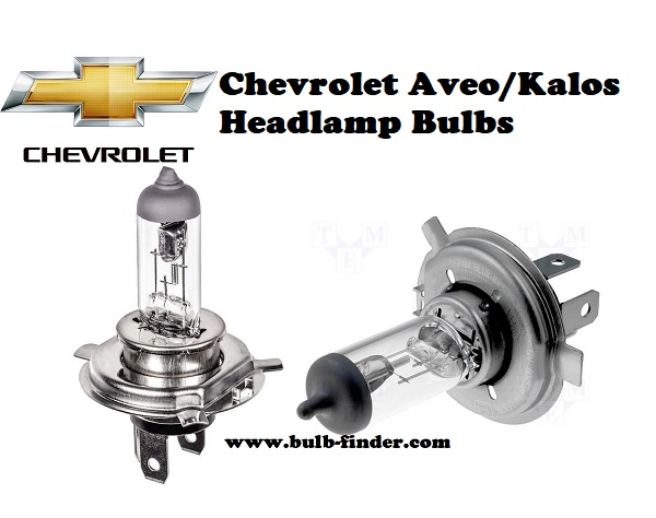 Chevrolet Aveo Kalos front headlamps bulbs type