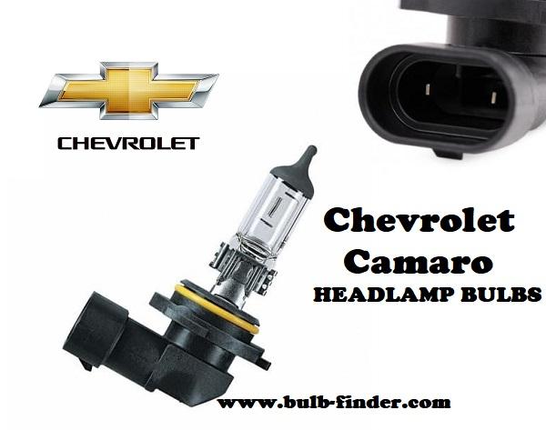 Chevrolet Camaro front headlamps bulbs type
