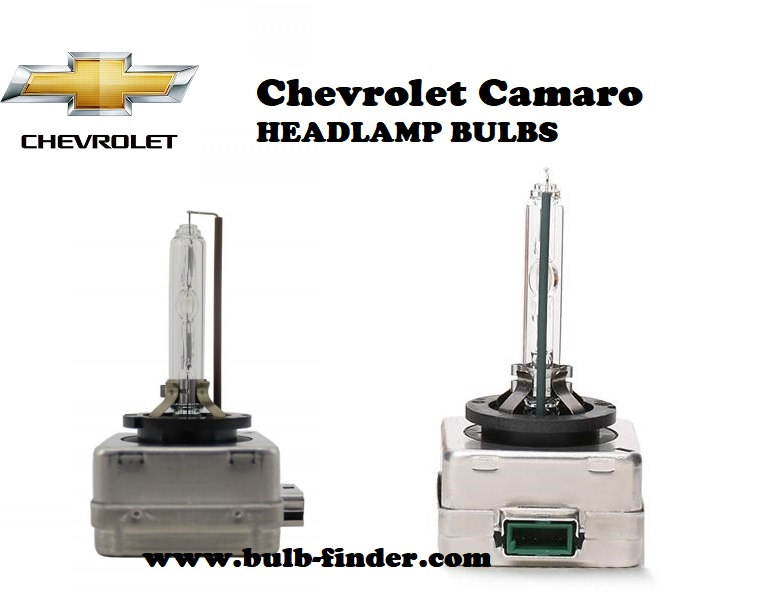 Chevrolet Camaro front headlamps bulbs type