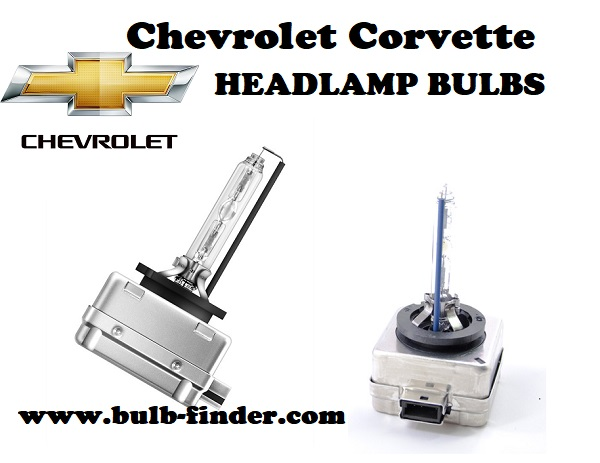 Chevrolet Corvette front headlamps bulbs type