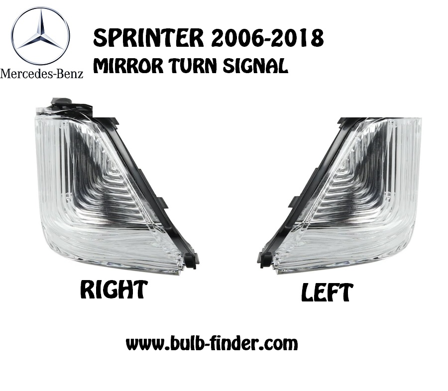 Side mirror turn signal Mercedes Benz Sprinter 2006-2018