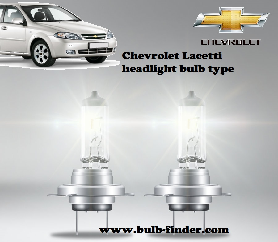 Chevrolet Lacetti headlamp bulb specification