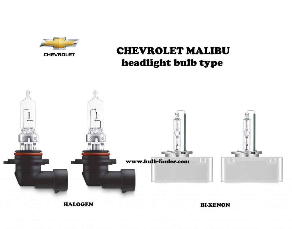 Chevrolet Malibu headlamp bulb specification