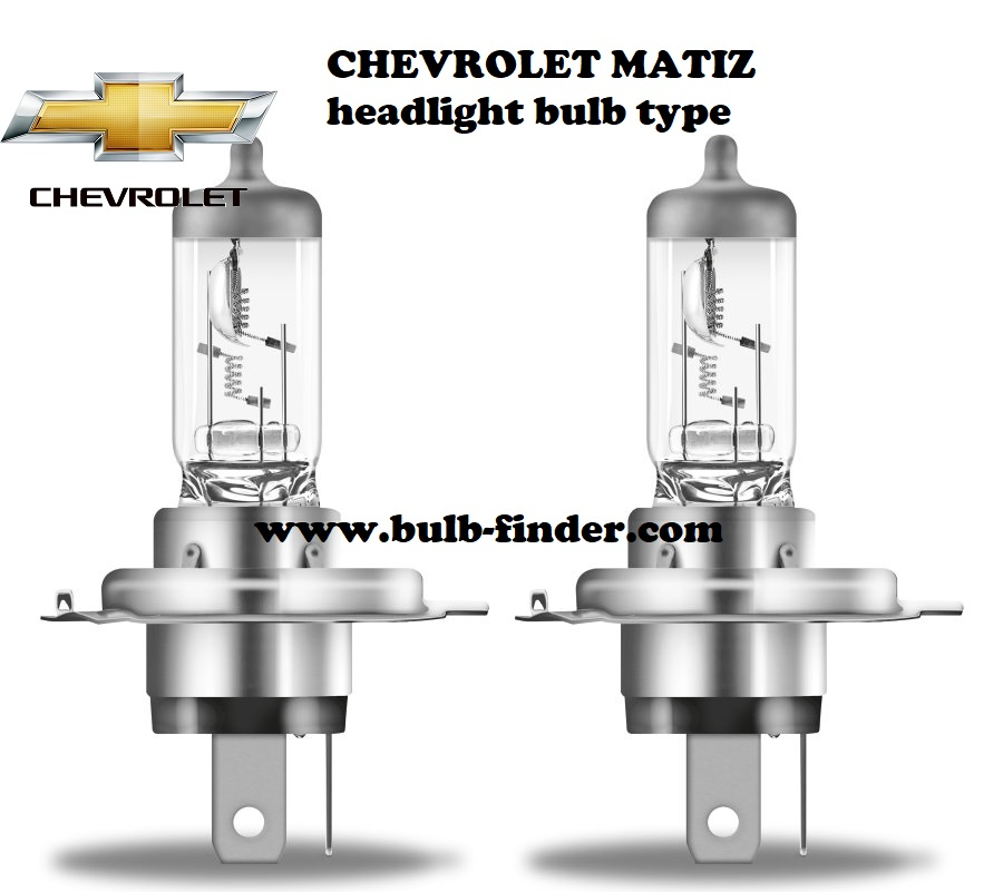 Chevrolet Matiz headlamp bulb specification