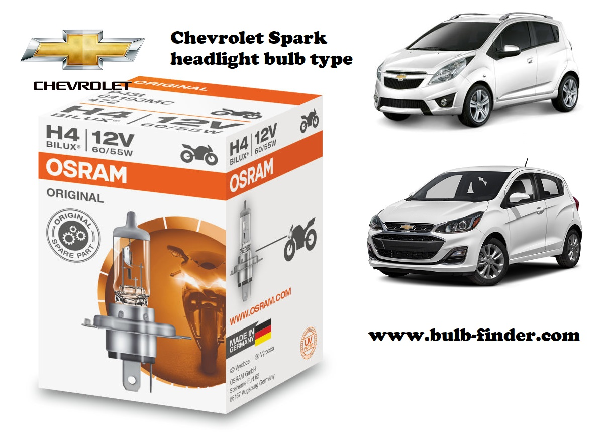 Chevrolet Spark headlamp bulb specification