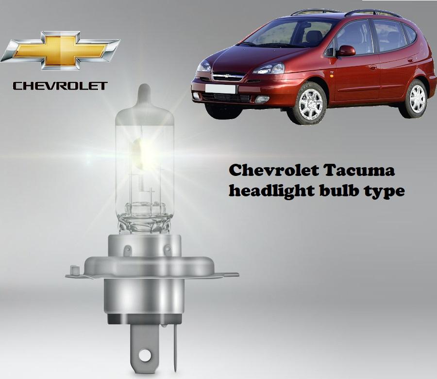 Chevrolet Tacuma headlamp bulb specification