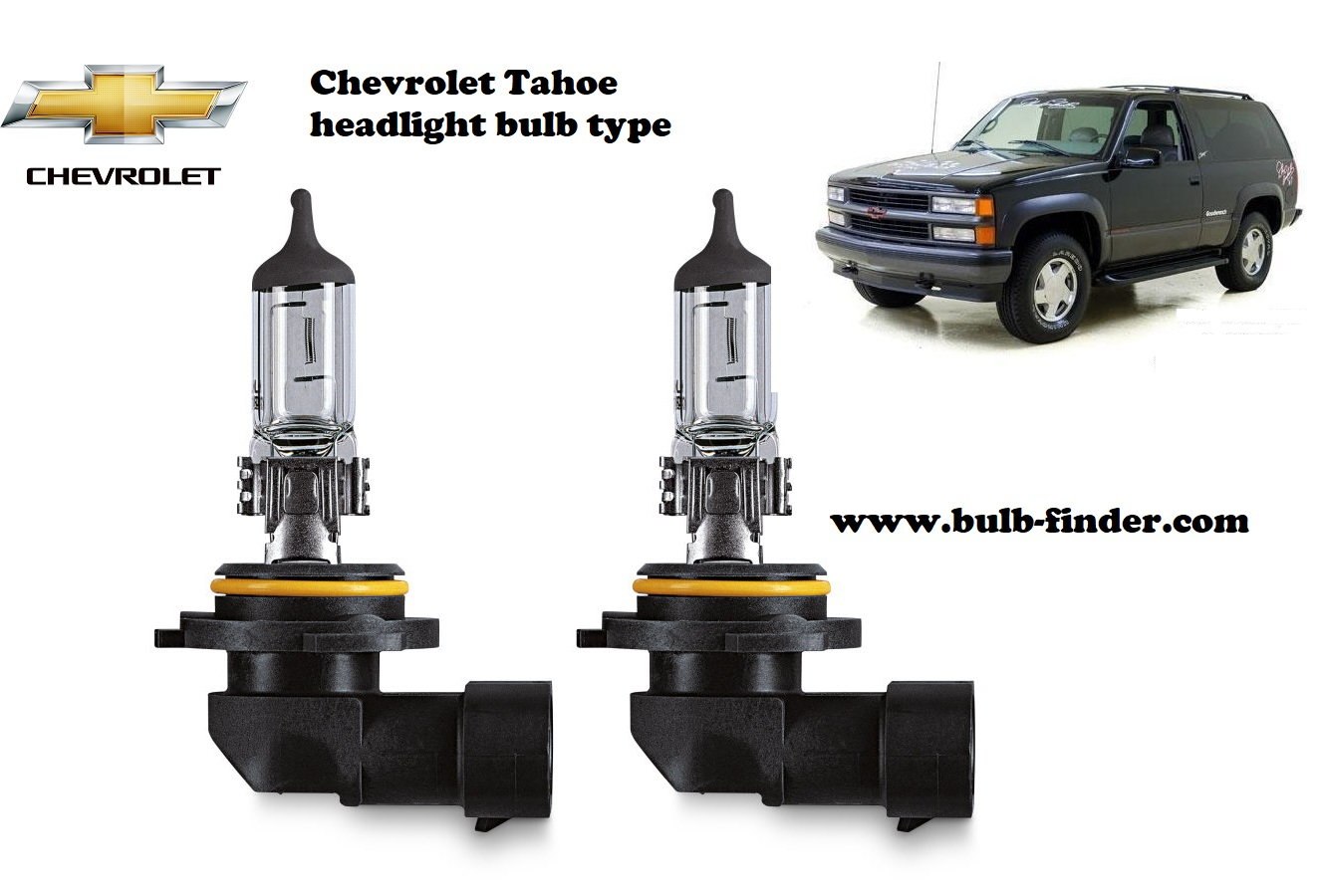 Chevrolet Tahoe headlamp bulb specification