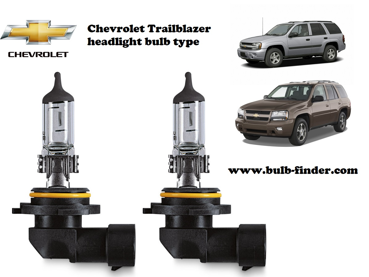 Chevrolet Trailblazer headlamp bulb specification