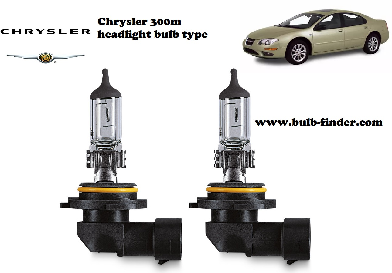 Chrysler 300m headlamp bulb specification