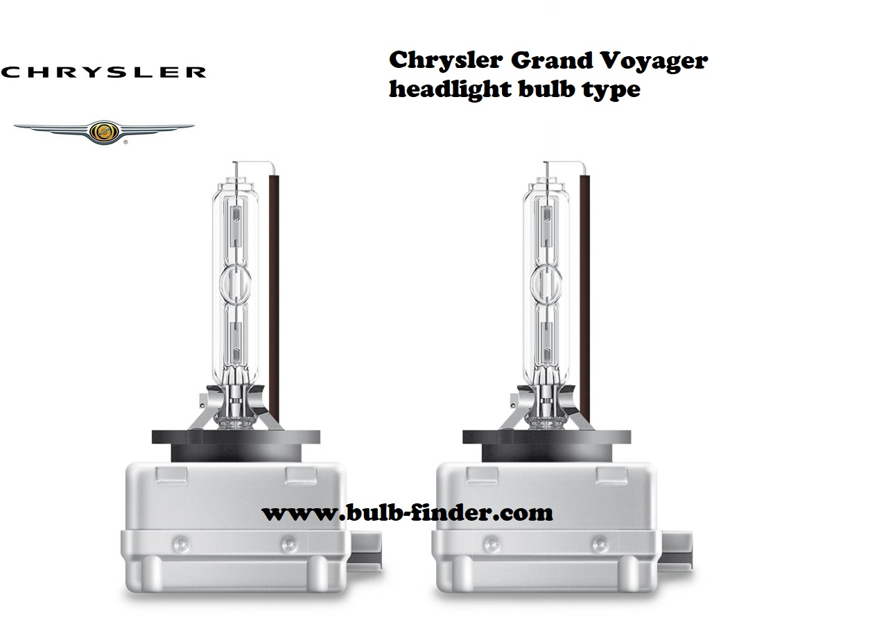Chrysler Grand Voyager headlamp bulb specification