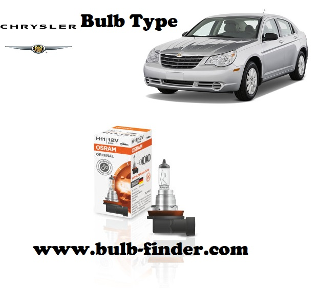 Chrysler Sebring headlamp bulb specification