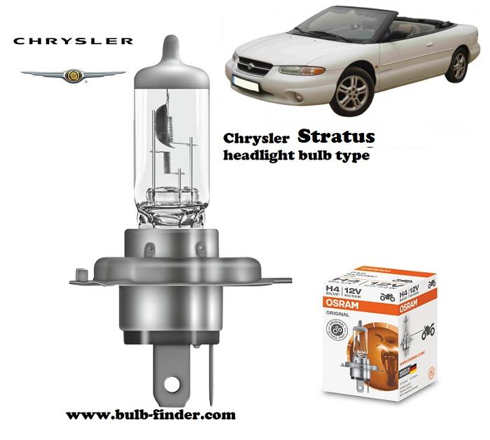 Chrysler Stratus headlamp bulb specification