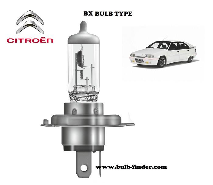 Citroen BX headlamp bulb specification