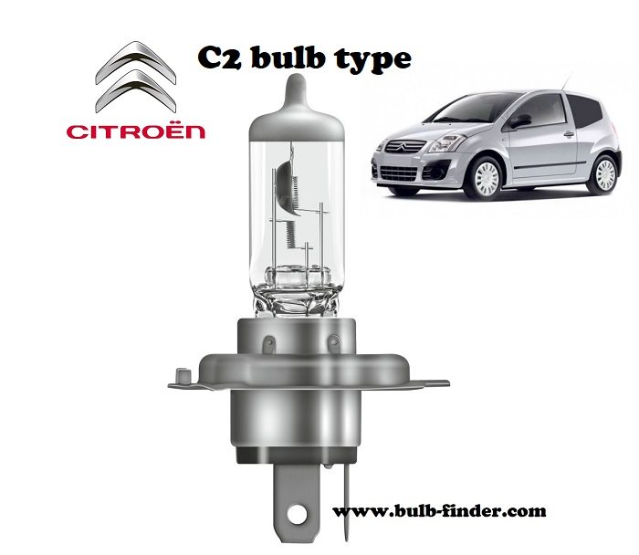 Citroen C2 headlamp bulb specification
