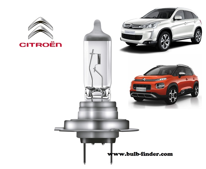 Citroen C4 Aircross headlamp bulb specification