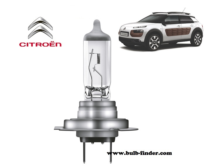 Citroen C4 Cactus headlamp bulb specification