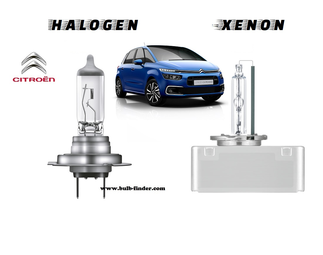 Citroen C4 mk2 Grand Picasso headlamp bulb specification