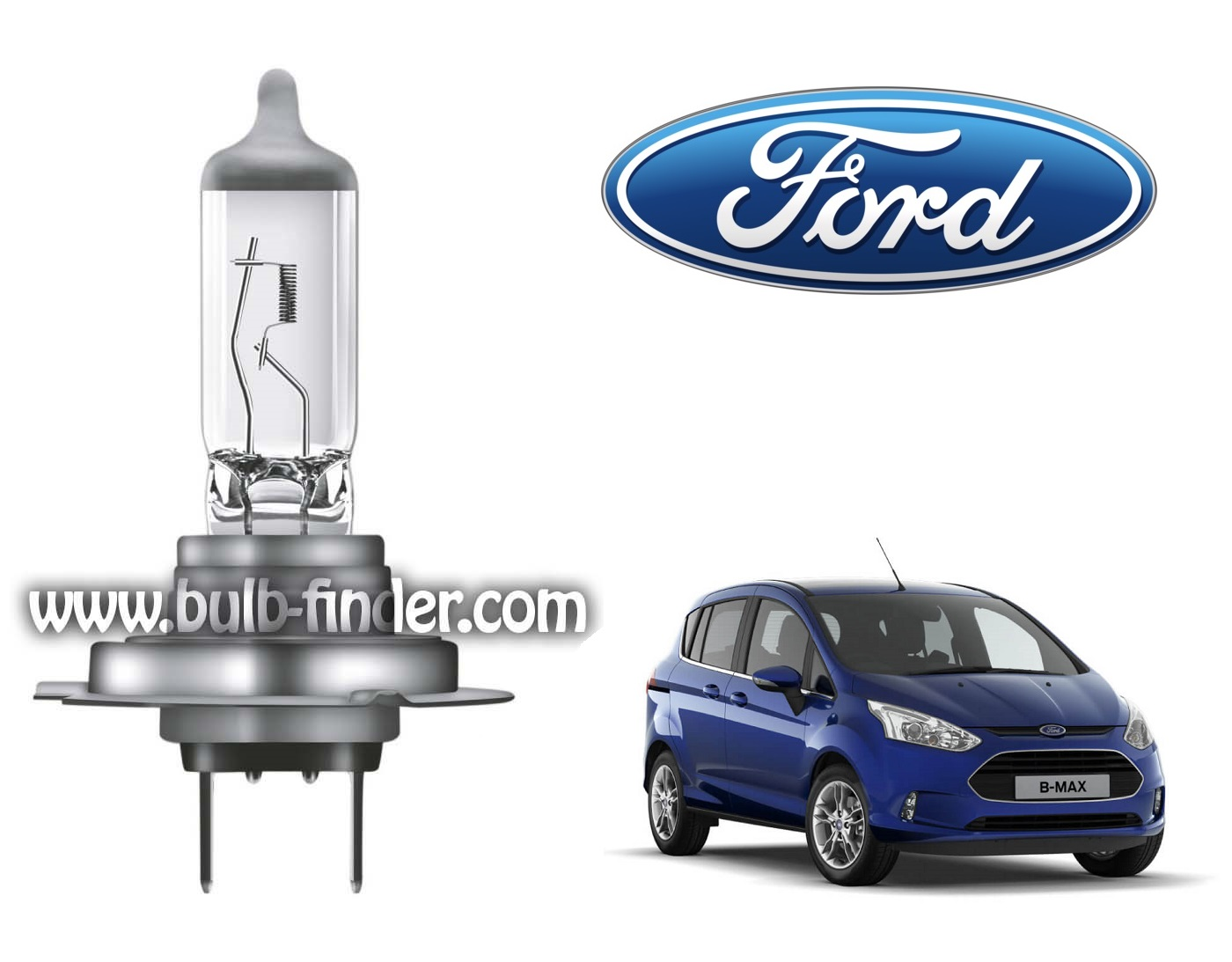 Ford B Max bulb model LOW BEAM