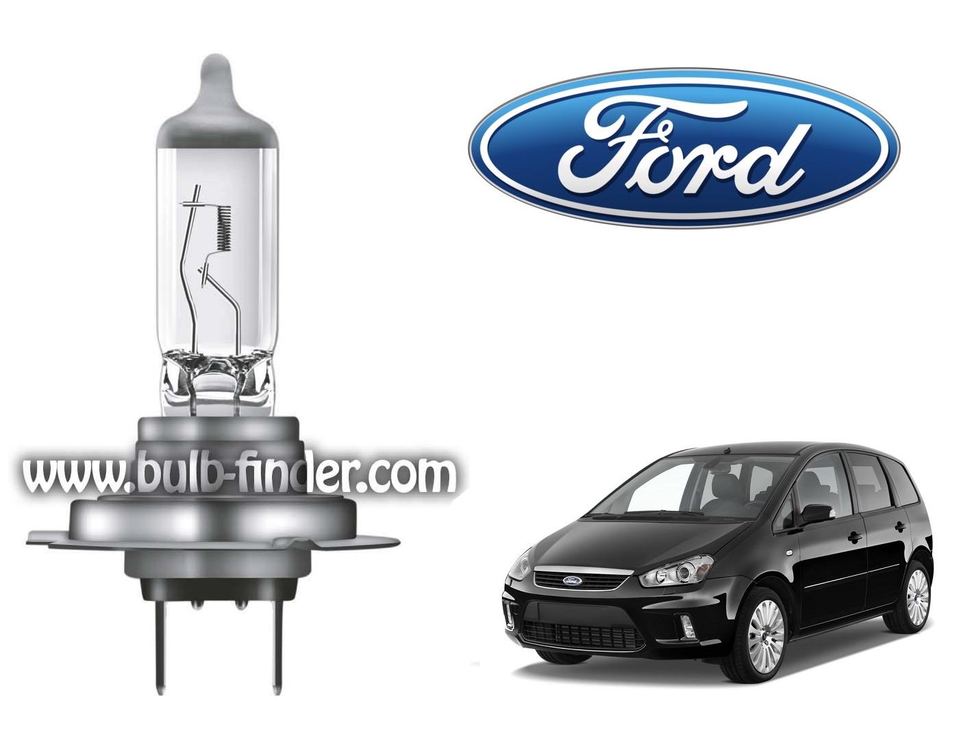 Ford C Max bulb model LOW BEAM